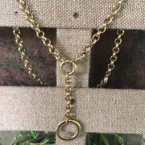 Vintage P&Y Goldtoned Circle Drop Necklace